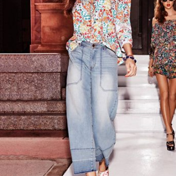 New York & Company Denim - Released Hem Wide Leg Soho Culotte